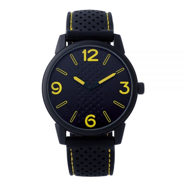 Custom printed silicone strap quartz men's watch
